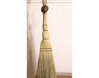 Pine Burl Hearth Broom - Functional Art - One Only