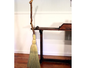 Contorted Hazel Porch Broom - Rustic Western Hazel - One Only - Free Shipping