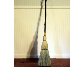 Rustic Kitchen Broom - Contorted Mountain Alder - One Only - Functional Art -  Free Shipping