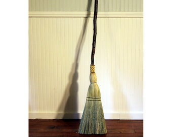 Rustic Red Birch Kitchen Broom - Contorted Handle - One Only - Free Shipping
