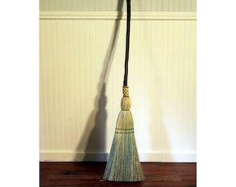 Rustic Kitchen Broom - Weather Scarred Western Hazel - Functional Art - Free Shipping