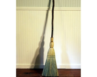 Rustic Red Birch Kitchen Broom - Curvy Handle - One Only - Free Shipping