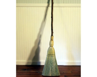 Quaking Aspen Kitchen Broom - Rustic Knotty Branch - One Only - Free Shipping