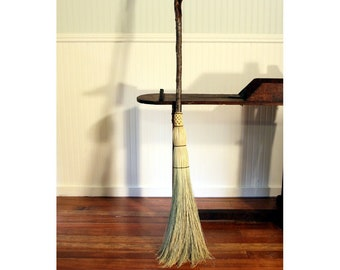 Rustic Round Besom - Weather Scarred Mountain Alder - One Only - Free Shipping