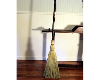 Rustic Porch Broom - Red Birch Porch Broom - One Only - Free Shipping