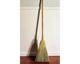 Shaker Authentic 1878 -- Deluxe Cherry Handle -- Vintage Corn Broom