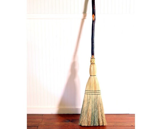 Rustic Red Birch - Contorted Porch Broom - One Only - Free Shipping