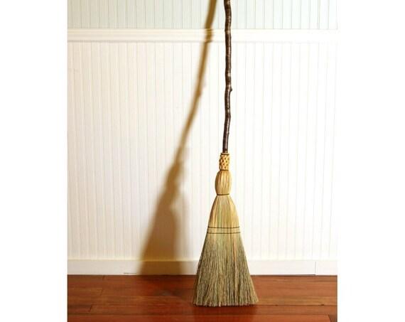 Quaking Aspen Kitchen Broom - Mottled Bark Aspen Branch - Functional Art - Free Shipping