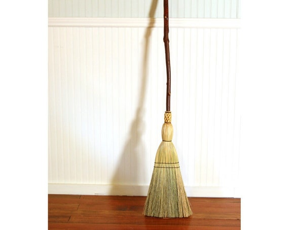 Rustic Kitchen Broom - Mountain Alder Handle - One Only - Functional Art -  Free Shipping