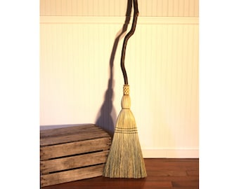 Contorted Alder Porch Broom - Bent Handle Besom - One Only - Free Shipping