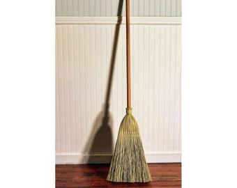 Shaker Authentic 1878 -- Deluxe Red Oak Handle -- Vintage Corn Broom -- Kitchen, Porch, and Floor Broom