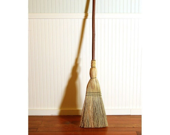 Rustic Porch Broom - Western Hazel Functional Art - One Only - Free Shipping