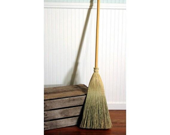 Shaker Authentic 1878 -- Vintage Corn Broom -- Kitchen, Porch, and Floor Broom