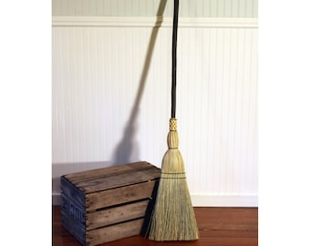 Quaking Aspen Rustic Kitchen Broom - One Only - Free Shipping