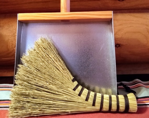 Mini Turkey Wing Cleanup Kit - Old Fashioned Whisk and Dustpan