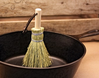 Dutch Oven Pot Scrubber - Broom Corn Brush - Veggies - Potatoes - Clothing - Brush - Traditional Pot Scrubber