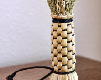 Polissoir - broomcorn burnishing tool - Beeswax Finish Polishing Tool - Long Bristles for Wood Carvings