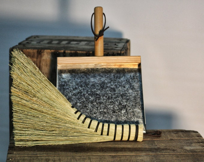 Featured listing image: Turkey Whisk & Dustpan Cleanup Kit - Old Fashioned Broom and Dustpan