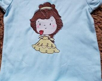 Size 5 White Ruffle Shirt---Rose Princess
