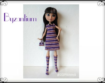 Ever After High Doll Clothes - Dress, Boots, Purse and Jewelry Set - Handmade Fashion by dolls4emma