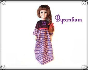 Vintage Ideal CRISSY Doll CLOTHES - Retro Long Dress and Hair-Bow - Handmade Custom Fashion - by dolls4emma