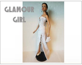 """Tyler Doll Clothes - GLAMOUR GIRL Hand-beaded Gown, Purse and Jewelry Set - Custom Fashion fits 16"""" Tonner dolls - by dolls4emma"""