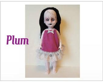 Living Dead Doll Clothes - PLUM- Dress - Handmade Custom Fashion by dolls4emma