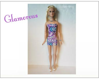 "Tyler Doll Clothes - GLAMOROUS Cocktail Dress and Jewelry Set - Custom Fashion fits 16"" Tonner dolls - by dolls4emma"
