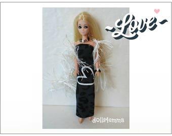 Dawn Doll Clothes - LOVE Boa, Heart Dress and Jewelry Set - OOAK Custom Fashion - by dolls4emma