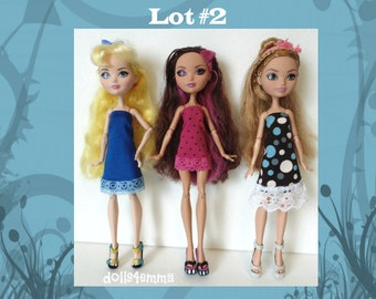 Ever After High Doll Clothes - Lot of 3 DRESSES Handmade Fashions - by dolls4emma