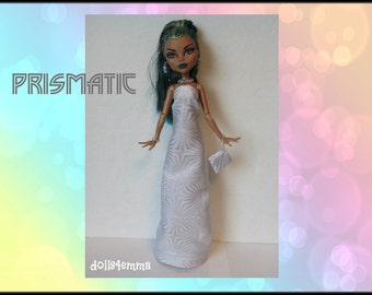 Monster High Nefera Doll Clothes Handmade Custom Fashion - Gown, Purse and Jewelry - by dolls4emma