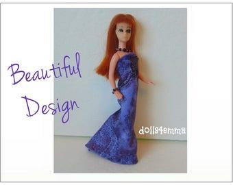 Dawn Doll Clothes - BEAUTIFUL DESIGN Gown and Jewelry Set - Custom Fashion by dolls4emma