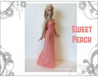 """Tyler Doll Clothes - SWEET PEACH Gown and Jewelry Set - Custom Fashion fits 16"""" Tonner dolls - by dolls4emma"""
