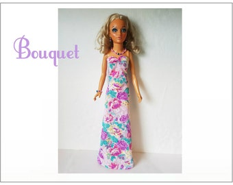 TIFFANY TAYLOR Doll Clothes - BOUQUET Lavender Gown and Jewelry Set - Handmade Fashion - by dolls4emma