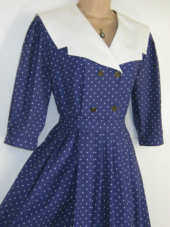 LAURA ASHLEY Vintage Edwardian Sailor Seaside 30s… - image 7