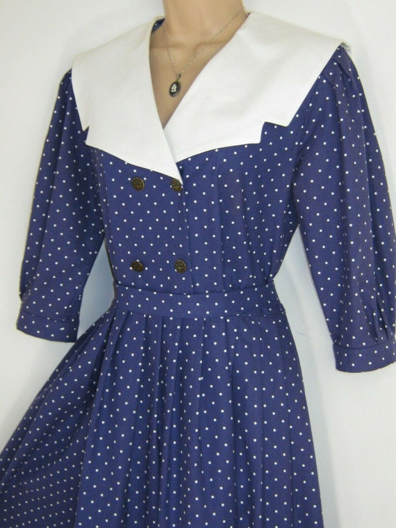 LAURA ASHLEY Vintage Edwardian Sailor Seaside 30s… - image 3