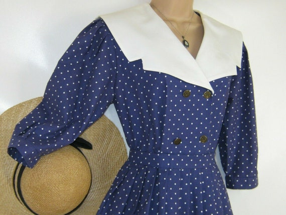 LAURA ASHLEY Vintage Edwardian Sailor Seaside 30s… - image 2
