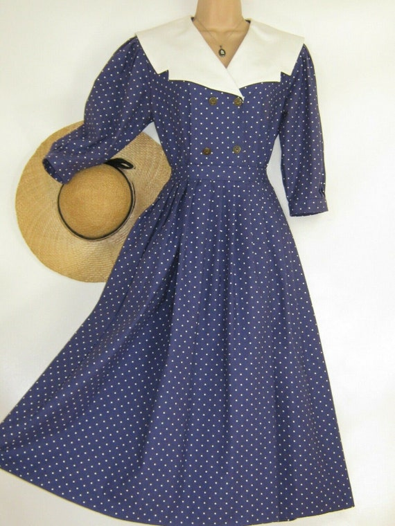 LAURA ASHLEY Vintage Edwardian Sailor Seaside 30s… - image 1