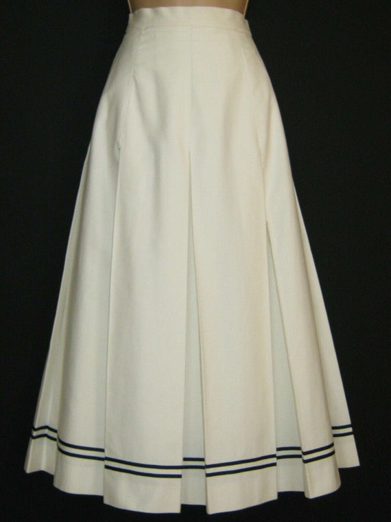 LAURA ASHLEY Vintage 80s Edwardian Sailor Nautical