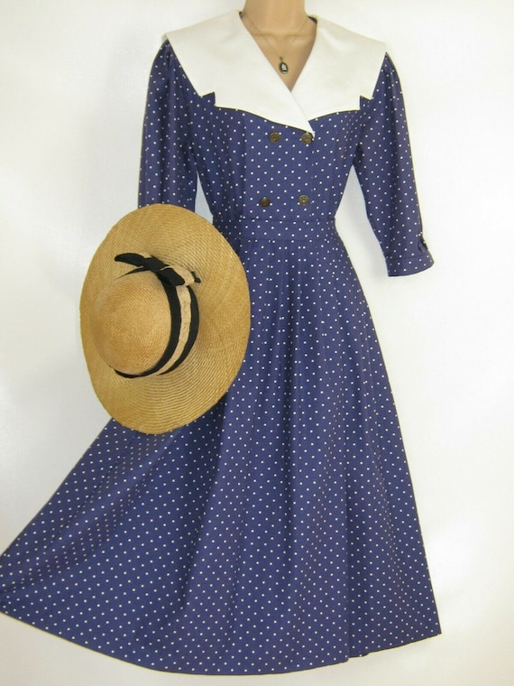 LAURA ASHLEY Vintage Edwardian Sailor Seaside 30s… - image 8