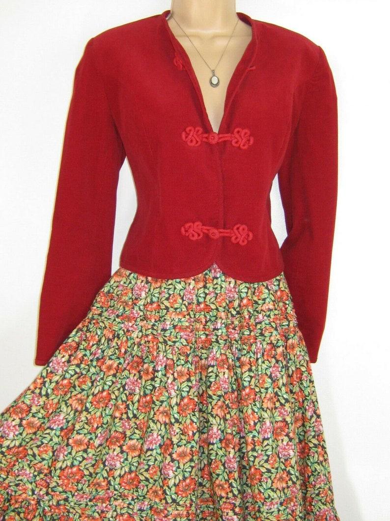 4ec8991f10e4 LAURA ASHLEY Vintage English Country Life Cherry Red | Etsy