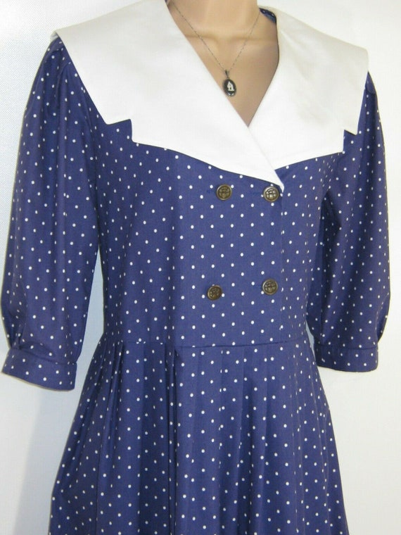 LAURA ASHLEY Vintage Edwardian Sailor Seaside 30s… - image 6