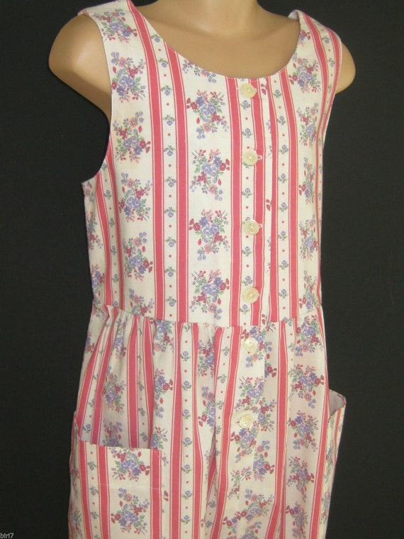 LAURA ASHLEY Vintage Girls Spring Bouquet Pink Cre