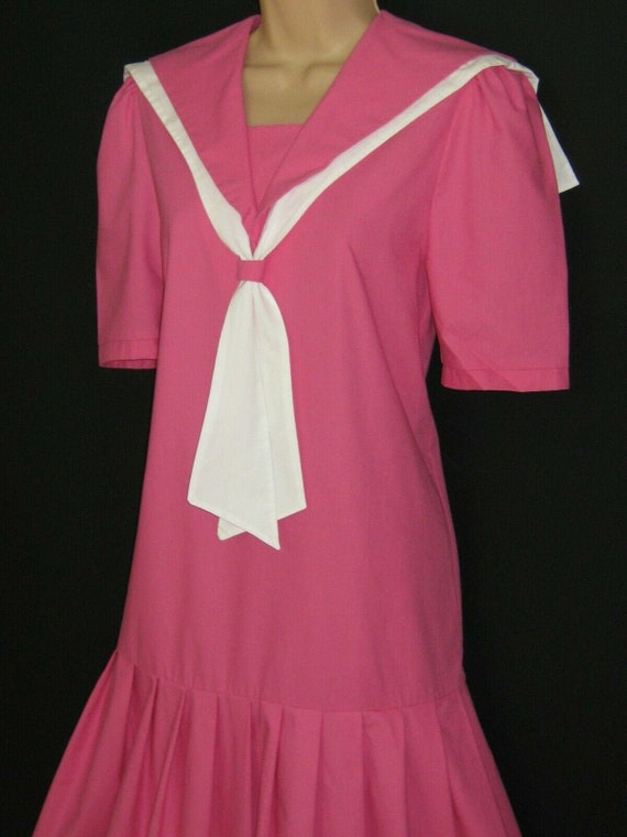 LAURA ASHLEY Vintage Pink Gatsby Flapper 30s Style