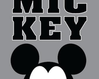 Mickey or Disney Quote, 8x10 Digital Print