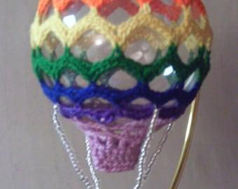 Hot Air Balloon Pattern - Chevron Ripple ~ Christmas ~ ornament