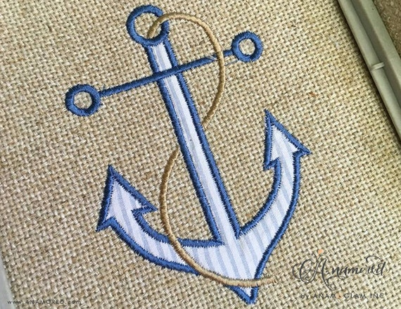 Anchor applique embroidery instant download for embroidery etsy