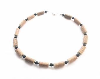 Hazelwood Necklace, Teens and Adult, Lava Beads, Migraine,  Acid Reflux, Collier Noisetier, diffuser bracelets