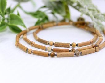 Hazelwood Necklace, Hazelwood Bracelets, Children, Teens and Adult, Jasper Beads, Migraine, Acid Reflux, Collier Noisetier