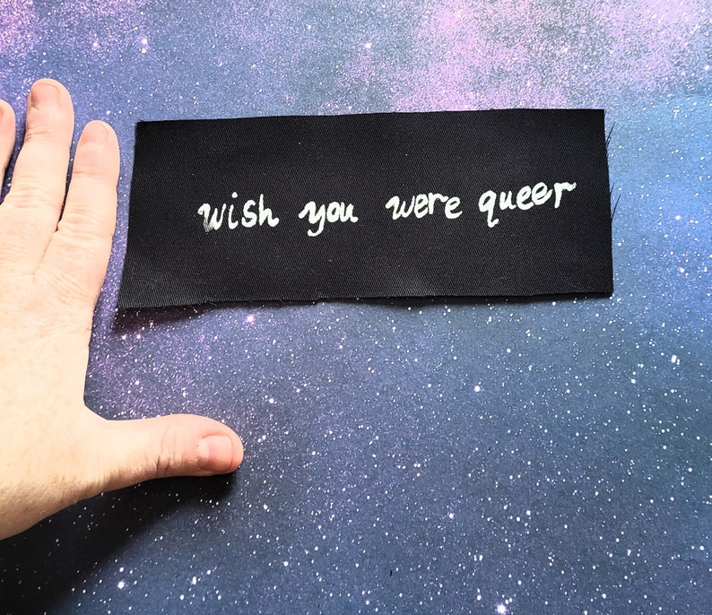 Wish You Were Queer Filler Small Patch